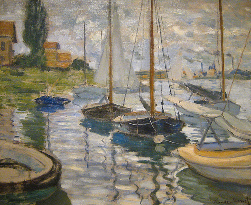 Sailboats on the Seine, 1874